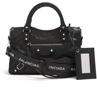 7568d8829417 Balenciaga Classic City Mini Leather Bag - Womens - Black White