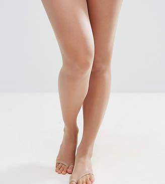 Asos DESIGN Maternity 8 denier nude sandal toe tights in beige