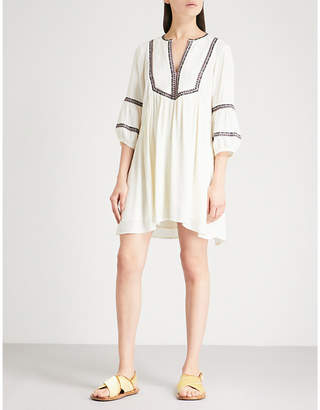 BA&SH Tale embroidered crepe mini dress