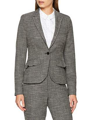 fee27aaebeadf S'Oliver BLACK LABEL Women's 11.809.54.3656 Suit Jacket, (Grey/Black