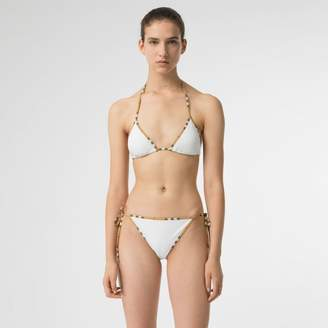 Burberry Vintage Check Trim Triangle Bikini