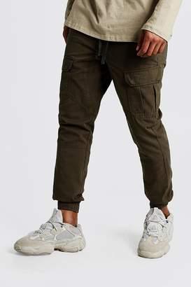 boohoo Cuffed Cargo Pants With Drawstring Waist