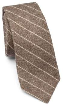 Brunello Cucinelli Flannel Diagonal Stripe Tie