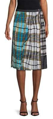 Marc Jacobs Patchwork Plaid Skirt