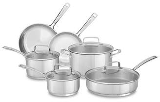 KitchenAid 10 Piece Non-Stick Stainless Steel Cookware Set