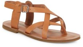 Lucky Brand Adinis Leather Sandals $69 thestylecure.com