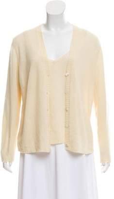 Malo Cashmere Rib-Knit Cardigan Set