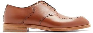 Christian Louboutin A Mon Homme Leather Derby Shoes - Mens - Brown