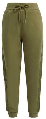 The Upside Twill Striped Cotton Track Pants - Womens - Khaki