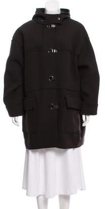 Lanvin Hooded Wool Jacket