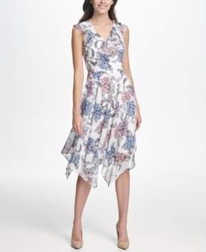 Kensie Ruffled Midi Dress