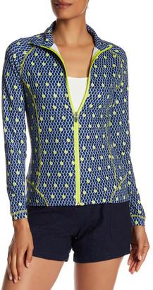 Peter Millar Tamara Full Zip Scales Print Jacket $119.50 thestylecure.com