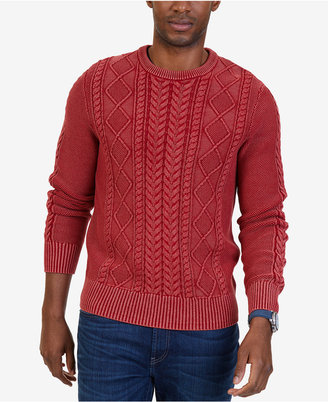 Nautica Men's Cable Knit Sweater $128 thestylecure.com
