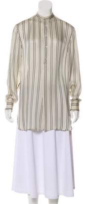 Ralph Lauren Black Label Silk Striped Tunic