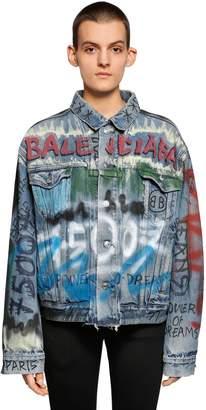 Balenciaga Hand-Drawn Graffiti Denim Jacket