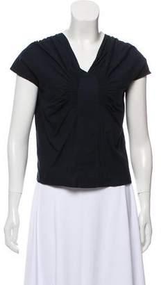 79055707b3 Dries Van Noten Smocked Short Sleeve Top