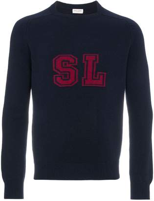 Saint Laurent logo cashmere sweater