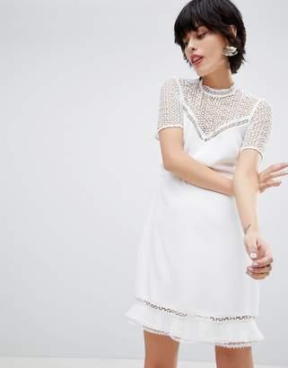 Warehouse Lace Tea Dress