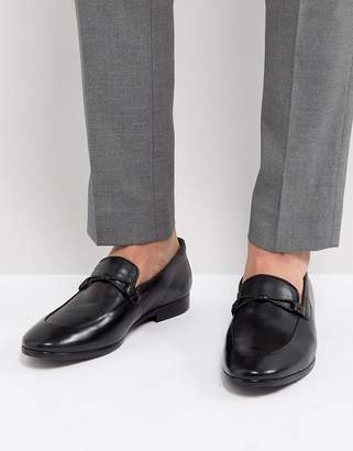 Dune Loafers In Black Leather