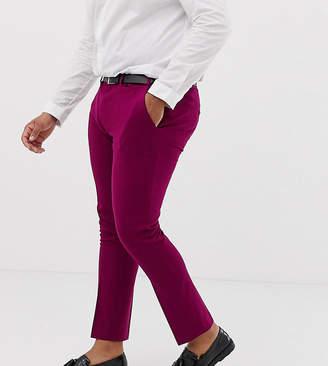 Asos Design DESIGN Plus wedding super skinny suit pants in plum
