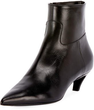 Balenciaga Leather Pointed Zip Bootie