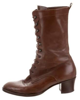 Hermes Round-Toe Leather Boots