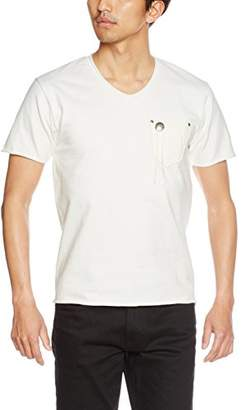 Schott (ショット) - (ショット) Schott(ショット) NATIVE LEATHER POCKET TEE 3173011 01WHT WHITE L