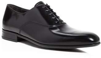 Salvatore Ferragamo Men's Dunn Leather Almond Toe Oxford Shoes