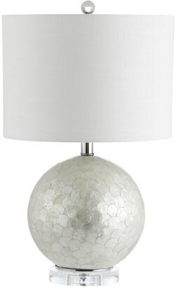 Jonathan Y Designs Zuri 23.5In Capiz Seashell Sphere Table Lamp