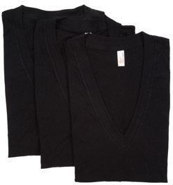 Unisex Sheer Jersey Short Sleeve Deep V-Neck (3-Pack)