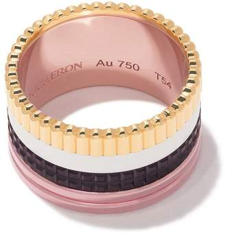 Boucheron 18kt yellow, rose, and white gold Quatre Classique Large ring