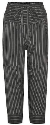 Isabel Marant Shantel striped silk-blend cropped trousers