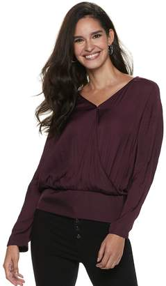 JLO by Jennifer Lopez Women's Dolman Surplice Top