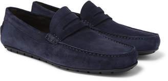 Canali Suede Driving Shoes - Men - Blue