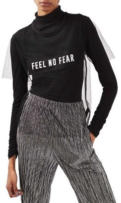 Women's Topshop Feel No Fear Sheer Tee $40 thestylecure.com