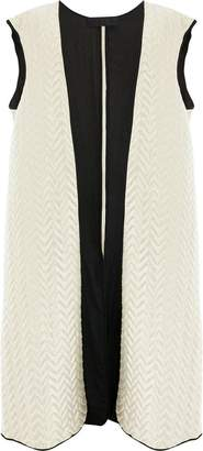 Haider Ackermann sleeveless jacquard coat