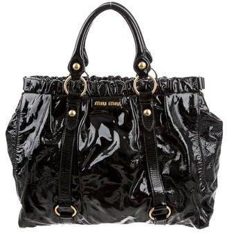 Miu MiuMiu Miu Patent Leather Handle Bag