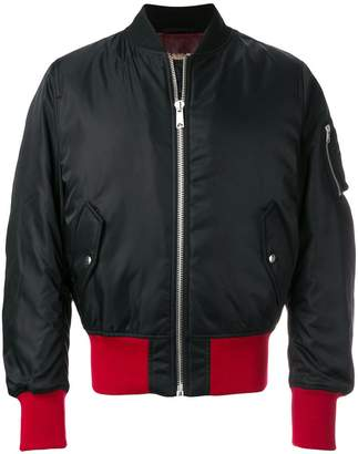 Calvin Klein ribbed trim flight jacket