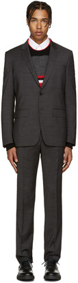 Givenchy Grey Textured Drop 8 Suit $1,990 thestylecure.com