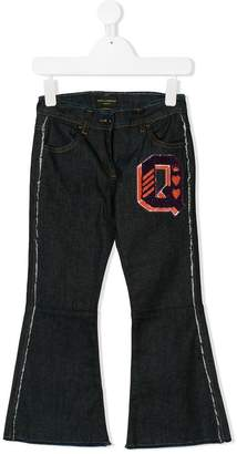Dolce & Gabbana Q embroidered jeans