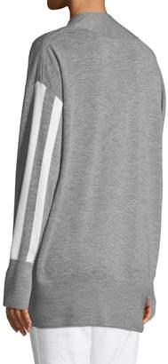 Rag & Bone Grace V-Neck Long-Sleeve Wool with Stripes