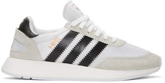 adidas White and Black Iniki Boost Sneakers