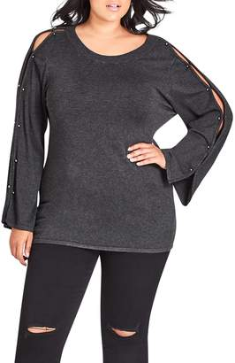 City Chic Barbell Sweater