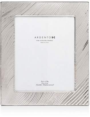 "Adelaide Wave-Pattern Sterling Silver Frame, 8"" x 10"""