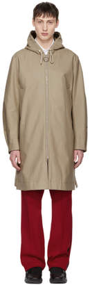 Acne Studios Beige Melt Hooded Coat