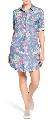 Women's Kut From The Kloth Ruthy Floral Print Shirtdress $108 thestylecure.com