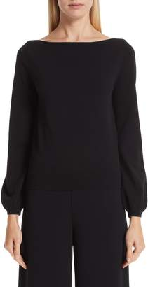 Co Boat Neck Knit Top