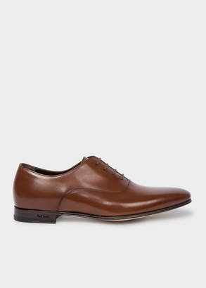Paul Smith Men's Dark Tan 'Fleming' Leather Oxford Shoes