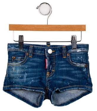 DSQUARED2 Girls' Distressed Denim Shorts