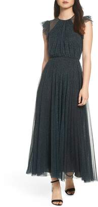 Jill Stuart Flocked Dot Tulle Dress